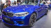 2018 BMW M5 front three quarters at 2017 Dubai Motor Show