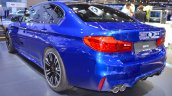 2018 BMW M5 rear three quarters at 2017 Dubai Motor Show