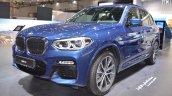 2018 BMW X3 front three quarters left side at 2017 Dubai Motor Show
