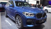 2018 BMW X3 front three quarters right side at 2017 Dubai Motor Show