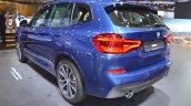 2018 BMW X3 rear three quarters left side at 2017 Dubai Motor Show