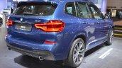2018 BMW X3 rear three quarters right side at 2017 Dubai Motor Show