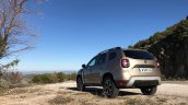 2018 Dacia Duster international media drive rear angle view