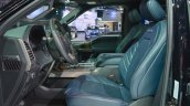 2018 Ford F-150 Limited front seats at 2017 Dubai Motor Show