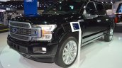 2018 Ford F-150 Limited front three quarters left side at 2017 Dubai Motor Show