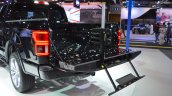 2018 Ford F-150 Limited tailgate step side view at 2017 Dubai Motor Show