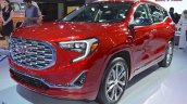 2018 GMC Terrain Denali front three quarters left side at 2017 Dubai Motor Show