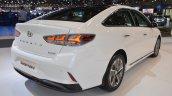 2018 Hyundai Sonata Hybrid (facelift) rear three quarters right side at 2017 Dubai Motor Show