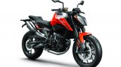 2018 KTM 790 Duke Orange Press shot front right quarter