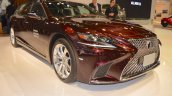 2018 Lexus LS front three quarters at 2017 Dubai Motor Show