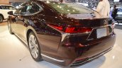 2018 Lexus LS rear three quarters left side at 2017 Dubai Motor Show