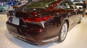 2018 Lexus LS rear three quarters right side at 2017 Dubai Motor Show