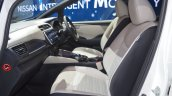 2018 Nissan Leaf front seats passenger side view at the 2017 Dubai Motor Show
