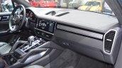2018 Porsche Cayenne Turbo dashboard right side view at 2017 Dubai Motor Show