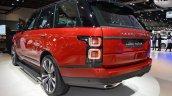 2018 Range Rover (facelift) SVAutobiography Dynamic rear three quarters left side at 2017 Dubai Motor Show