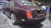 2018 Rolls-Royce Phantom EWB rear three quarters left side at 2017 Dubai Motor Show