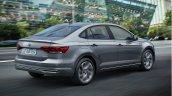 2018 VW Virtus (Polo based sedan) rear angle action shot
