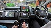 Autonomous Tata Hexa testing in the UK cabin