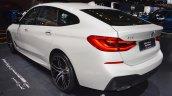 BMW 6 Series GT rear three quarters left side at 2017 Dubai Motor Show