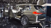 BMW Concept X7 iPerformance rear three quarters left side at 2017 Dubai Motor Show
