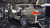 BMW Concept X7 iPerformance rear three quarters left side at 2017 Dubai Motor Show