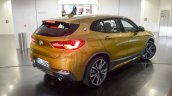 BMW X2 live images rear three quarters