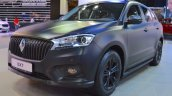 Borgward BX7 matte-black front three quarters at 2017 Dubai Motor Show