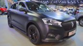 Borgward BX7 matte-black front three quarters right side at 2017 Dubai Motor Show