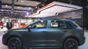 Borgward BX7 matte-black profile at 2017 Dubai Motor Show