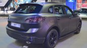 Borgward BX7 matte-black rear three quarters at 2017 Dubai Motor Show