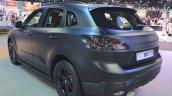 Borgward BX7 matte-black rear three quarters left side at 2017 Dubai Motor Show