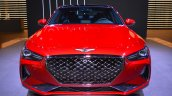 Genesis G70 with Sport Package front at 2017 Dubai Motor Show
