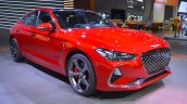 Genesis G70 with Sport Package front three quarters right side at 2017 Dubai Motor Show