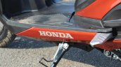 Honda Grazia first ride review floorboard logo