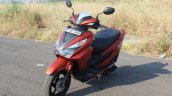 Honda Grazia first ride review front left quarter