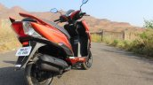 Honda Grazia first ride review rear right quarter closeup