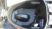 Honda Grazia first ride review underseat compartment empty