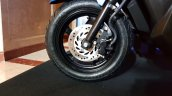 Honda Grazia launch blue front wheel