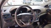 Hyundai Ioniq hybrid dashboard at 2017 Dubai Motor Show