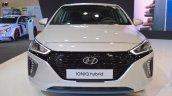 Hyundai Ioniq hybrid front at 2017 Dubai Motor Show