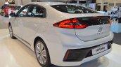 Hyundai Ioniq hybrid rear three quarters at 2017 Dubai Motor Show