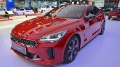 Kia Stinger GT front three quarters at the 2017 Dubai Motor Show