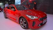 Kia Stinger GT front three quarters right side at the 2017 Dubai Motor Show