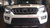 Mahindra Scorpio facelift spotted at dealer yard