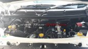 Mahindra TUV300 Plus engine bay spy shot
