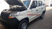 Mahindra TUV300 Plus front three quarters spy shot