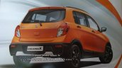 Maruti Celerio X rear three quarters leaked brochure