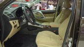 Mitsubishi Montero Sport front seats at the 2017 Dubai Motor Show