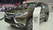 Mitsubishi Montero Sport front three quarters left side at the 2017 Dubai Motor Show