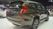 Mitsubishi Montero Sport rear three quarters right side at the 2017 Dubai Motor Show